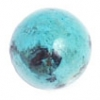 Turquoise 10mm Round Stabilized Blue